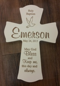 Baptism Cross with Engraving