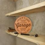 Engraved Garage Shelf Sign