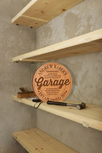 Engraved Garage Shelf Sign