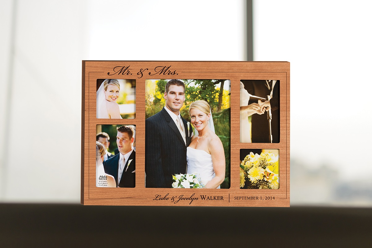 Engraved Wooden Wedding Photo Frames : ... Boutique by Designs For You Engraved wooden wedding picture frame