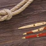 Engraved wood pens