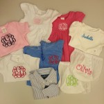 Baby clothes with monogramming