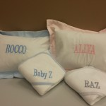 Baby pillows with monogramming