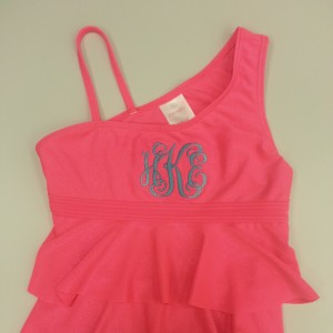 Bathing Suit with Monogramming