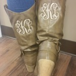 Boots with monogramming