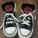 Converse shoes with monogramming