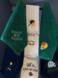 Golf and Other Towels with Embroidery