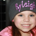 Beanie with monogrammed name