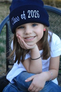 Monogrammed stocking hat with class year