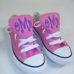 Shoes with monogramming