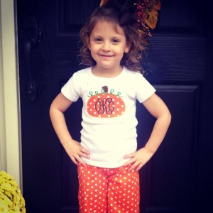 Kid's apparel with monogramming
