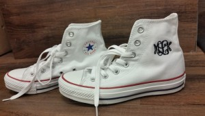 Monogrammed Converse All Star Shoes with Initials