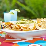 Nora Fleming Chips and Dip Platter with Fiesta Sombrero Mini