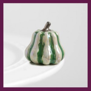 Nora Fleming Gourd Harvest Happiness Green Mini