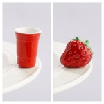 Nora Fleming Solo Cup and Strawberry minis