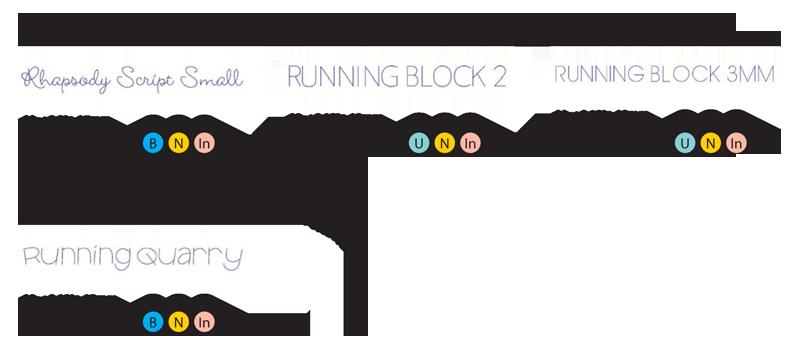 running-fonts